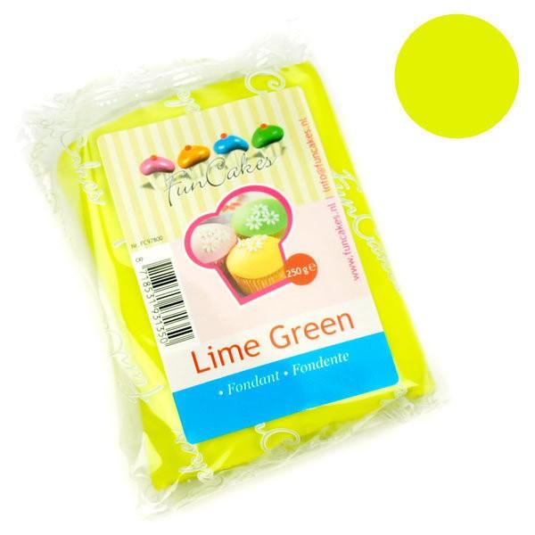 FunCakes potahový fondán - limetková zelená - 250g