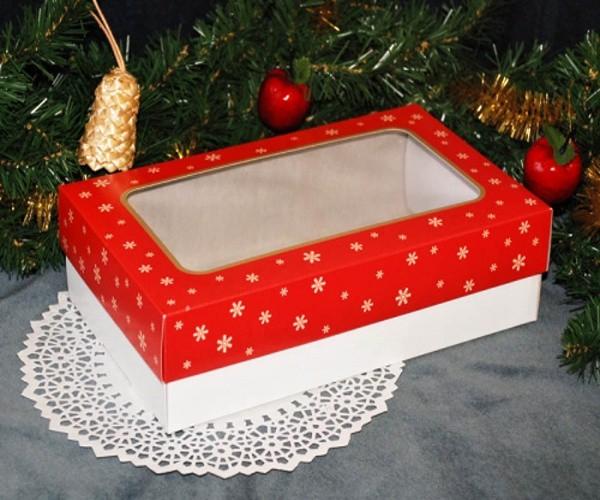 Krabice na cukroví - vánoční červená - 1kg