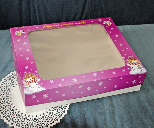 Krabice na cukroví - vánoční fialová - 2kg