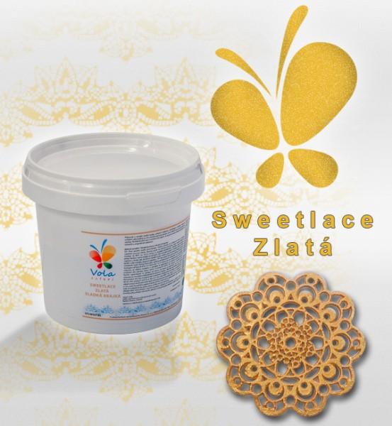 Sweet Lace - jedlá krajka hotová - zlatá 200g