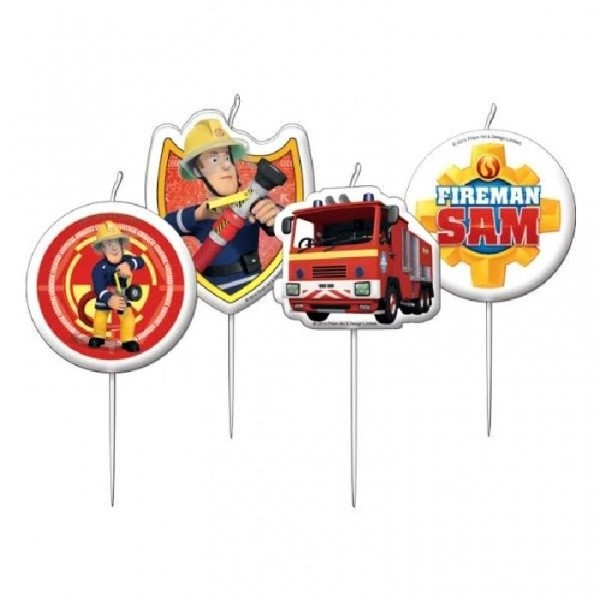 Dortová svíčka mini - požárník SAM - 4ks