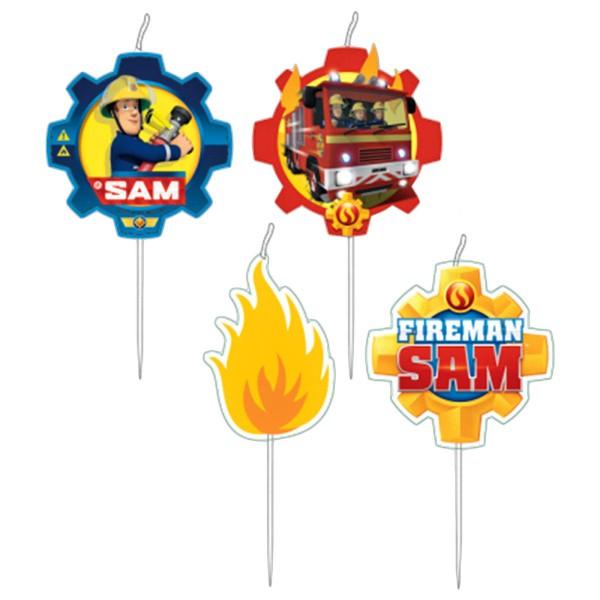 Dortová svíčka mini - požárník SAM 2 - 4ks